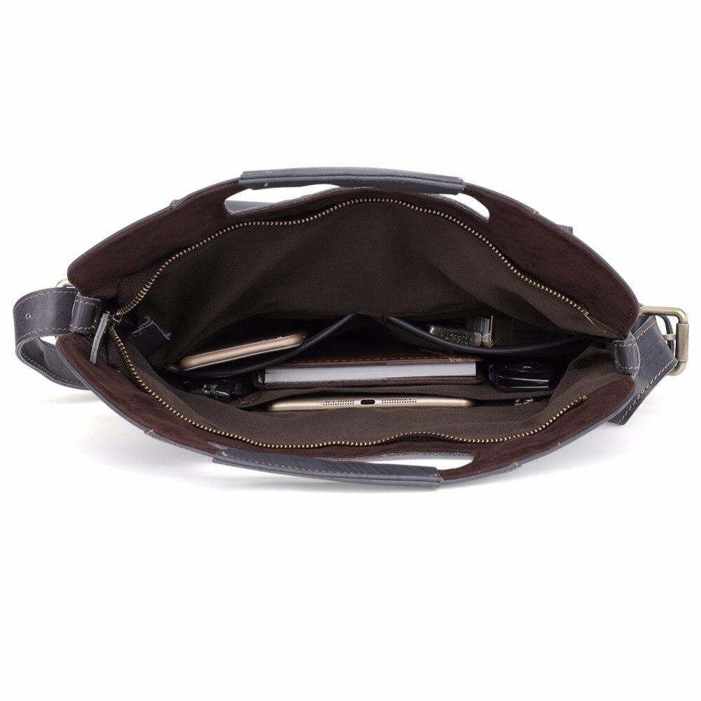 JOYIR Genuine Leather Men Bag Vintage Casual Totes Handbags Men Messenger Bags Briefcase Men 39 s Travel Multifunction Shoulder Bag