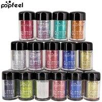 POPFEEL Glitter Eye Shadow Set Face Kit Powder Waterproof Shimmer Eyeshadow Pigment Metallic Eye Shadow
