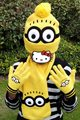 3pcs/set Brand new Hot Sale high-quality Children Winter Cartoon minions knitted hat+gloves+scarf  Children creative gift