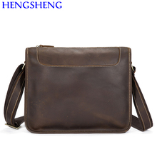 Hengsheng cheap price genuine leather cross men shoulder bags for fashion business men messenger bags of soft shoulder bags