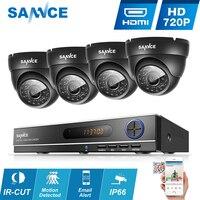 SANNCE 8CH CCTV системы P 720 P DVR 4 шт. 1.0MP ИК всепогодный открытый товары теле и видеонаблюдения дома безопасности камера 8CH DVR комплект