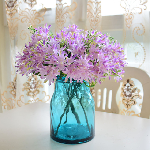 AliExpress & US $3.78 |small silk artificial flowers daisy bouquet for wedding home birthday party vase decoration white pink purple beige fake flowers-in ...