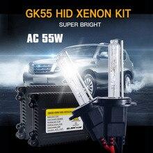 1 Set AC 55W Xenon Lamp H1 H3 H4 H7 H11 9005 9006 881 D2S HID Xenon Kit 4300K 5000k 6000K 8000K Xenon H7 Car Light Bulb