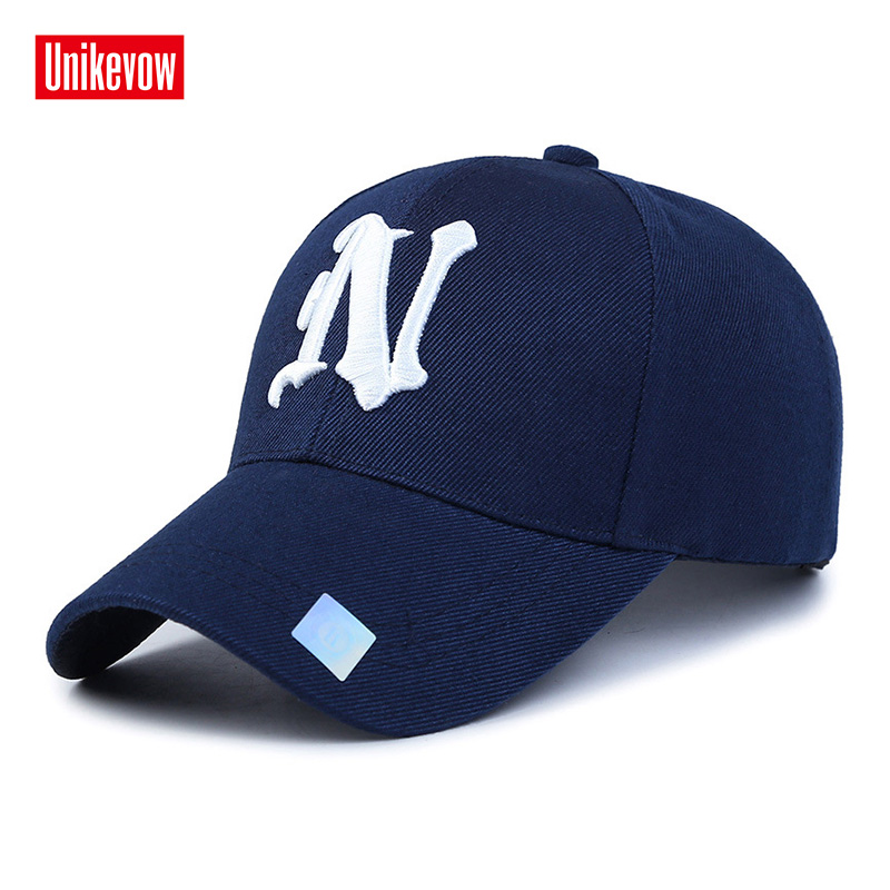 1Piece   Baseball     Cap   Solid Color Leisure Hats With N Letter 3D Embroidered   Caps   for Men And Women