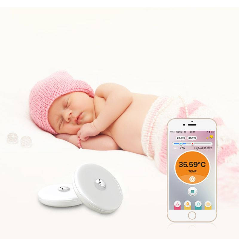 1 Pc Tragbare Baby Bluetooth Smart Thermometer Handy Verbinden Überwachung Empfindliche Sonde Anti Verloren Präzise Display