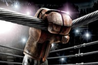 Home Decoration Real Steel Fantasy Hall The Audience The Fans The Stands The Ring Fabric Poster