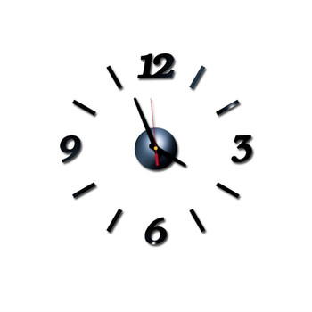 diy Mirror Wall Clock Sticker Acrylic 3D Roman Numbers Clock Wall Art Watch Decals Wall Clocks for Living Room Home Office 9M14 10