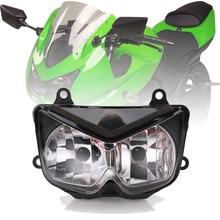 Clear Motorcycle Front Headlight Headlamp For Kawasaki Ninja 250R EX250 2008-2012 08 09 10 11 12 Z1000 2003-2006 2008 2012 kawasaki ex250 ninja 250r chain and sprocket kit heavy duty green