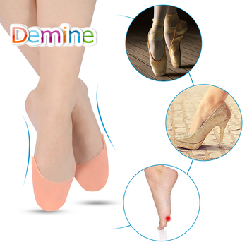 Demine Silicone Gel Ballet Toe Pads Pedicure Device Pointe Dance Forefoot Protector for Dancer Sneaker Toe Care Insole Inserts