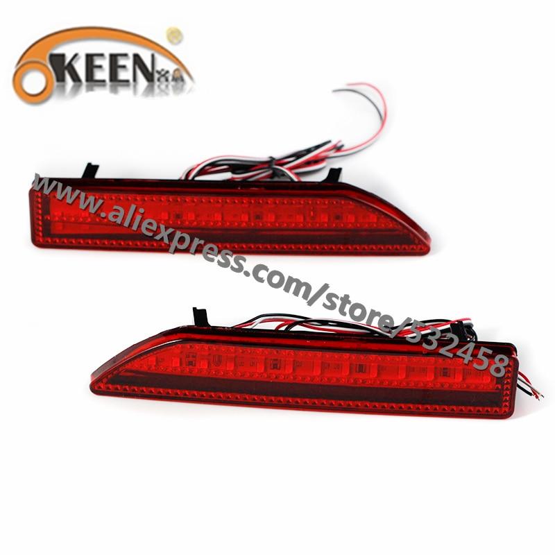 OKEEN Brand Automobiles Rear Lihgts Car Led Light Bar Tail Rear Bumper Reflector Lights Parking Lights For 2009 Honda CRV ...