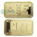 5 unids/lote envío libre Estado Unidos freemason oro masónica símbolos chuchería magnífico lingote moneda del metal del oro