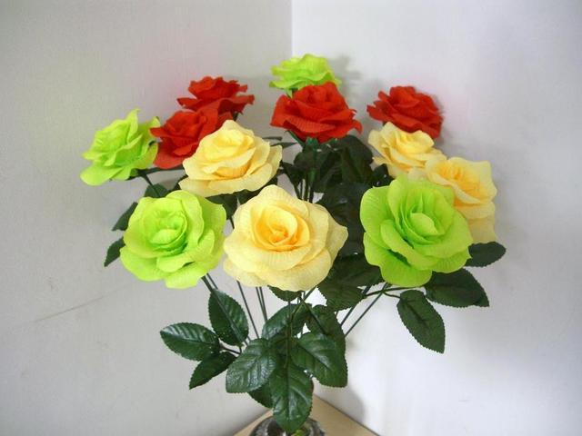 Spring Rose Artificial Garden Rose Single Rose Realistic Rose JennysFlowerShop 15/'/'Silk English Rose WeddingHomeParty Decoration Rose