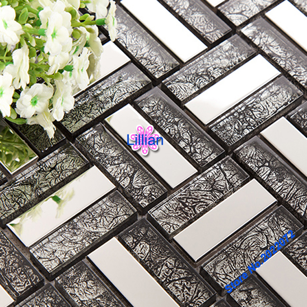Polish Bathroom Tile: Black Glass Tile And Matel Panels Bathroom Tiles Polish