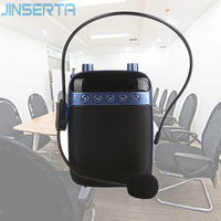JINSERTA Mini Voice Amplifier Megaphone Booster Microphone Portable Speaker Support USB TF Card FM Radio for Teacher Tour Guide