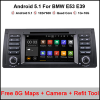 Android 5.1 Car DVD GPS for BMW E53 android E39 X5 with Wifi 3G Quad 1024X600 Bluetooth Radio RDS USB SD DAB Free camera Maps