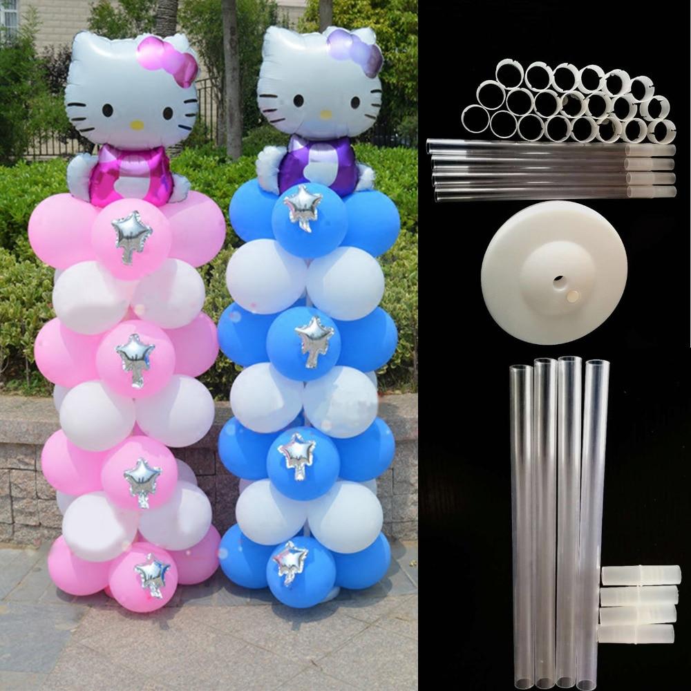 55 piezas unids de agua Ballon Base soporte globo columna Brithday boda fiesta globo arco carpeta