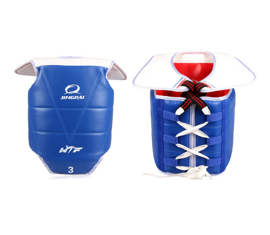 ФОТО Traditional Taekwondo chest guard kids men women student red blue Karate Taekwondo protectors WTF approved chest supporters TKD