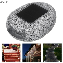 Simulated Resin Stone Solar Powered Ground Light Waterproof Garden Lamp Yard Decoration