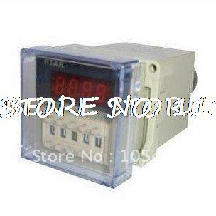 24VDC digital time delay relay timer 0.01s-9999h LED display 8 pin panel installed DH48S-2Z DPDT with Socket стоимость