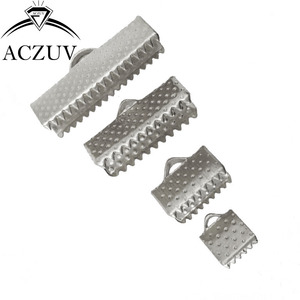 Image 3 - 1000 sztuk 6mm 8mm 10mm 13mm 16mm 20mm 25mm 30mm 35mm sznur wstążkowy koniec łączniki klamrami klipy szydełkowane koraliki biżuteria ustalenia RCE001