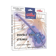 цена на Alice Double bass Strings A1000 4strings steel Core Cupronickel Winding Nickel-Plated Ball End Suitable for 3/4 double bass