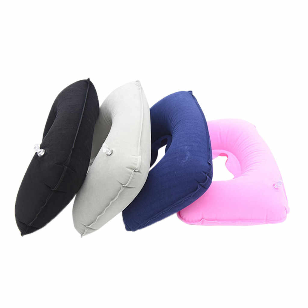 U Shaped Travel Pillow Inflatable Neck Car Head Rest Air Cushion for Travel Office Nap Head Rest Air Cushion Neck Pillow 4.0#