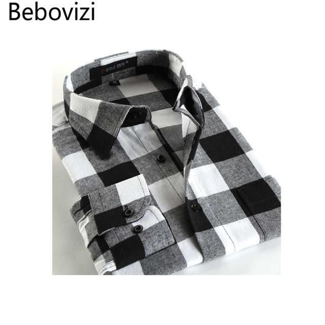15e6b7a7f4 2018 moda casual para hombre de manga larga a cuadros Camisas, Slim fit  confort suave