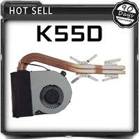 สำหรับA Sus K55DP K55DE K55DRอิสระกราฟิกแล็ปท็อปโน๊ตบุ๊ค13GNAN1AM010-1 13N0-MAA0901 CPUพัดลมระบายความร้อนหม้อน้ำฮีทซิงค