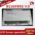 11.6''LED B116XW02 V.0 Laptop LCD Screen for IBM X100 U150 U121 P3010 S205 1366*768 40pins