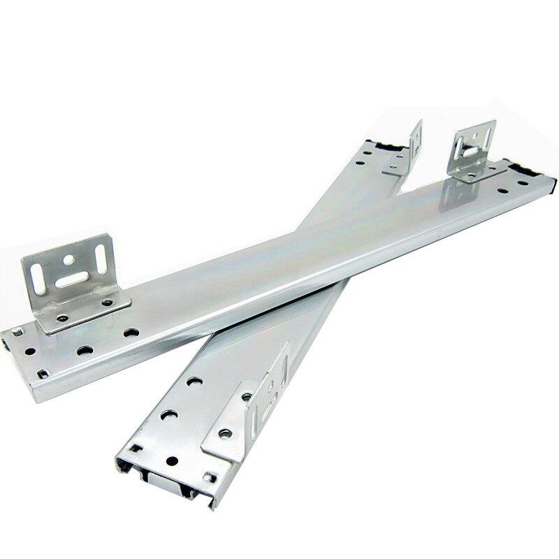 Livraison gratuite 370mm en sourdine diapositives Assaisonnement panier tiroir de cuisine meubles piste hardware cabinet panier tiroir rail support