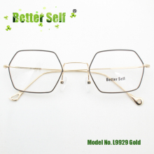 Better Self L9929 Korean Spectacles Quality Slim Metal Eye Glasses Irregular Myopia Eyewear Light Optical Frames