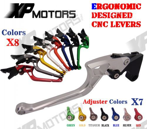 ФОТО High Quality Ergonomic Designed New CNC Adjustable Right-angled 170mm Brake Clutch Levers For Yamaha FJR1300 2003