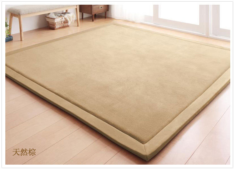 Nouveau 2 CM épais tapis de jeu corail polaire couverture tapis enfants bébé ramper tatami tapis coussin matelas pour chambre - 5