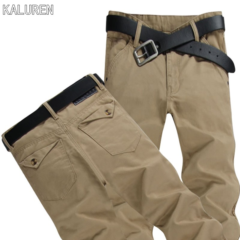 KALUREN Free shipping plus size 8XL 52 mens hip hop pants military men cotton pant brand jeans casual trousers large big size