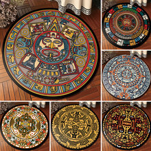 European classical vintage ethnic totem mandala round carpet Non-slip Balcony coffee table hanging basket home decoration mat