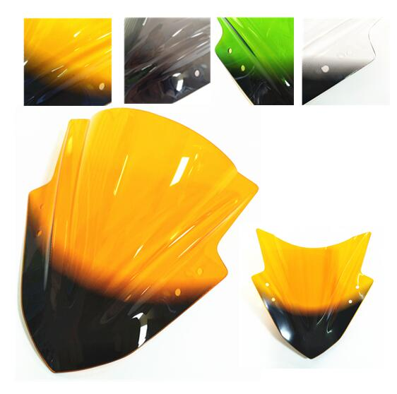 Motorcycle Accessories Fit For The Kawasaki Ninja 300 Wind Deflector  Stop S Smoke Acrylic Transparent Clear