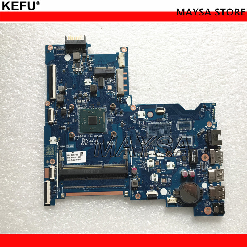 815249-501 FOR HP 15-AC series laptop motherboard ABQ52 LA-C811P REV:1.0 N3700 mainboard notebook PC 1 order nokotion original 815249 501 815249 001 laptop motherboard for hp 15 ac cpu abq52 la c811p mainboard works