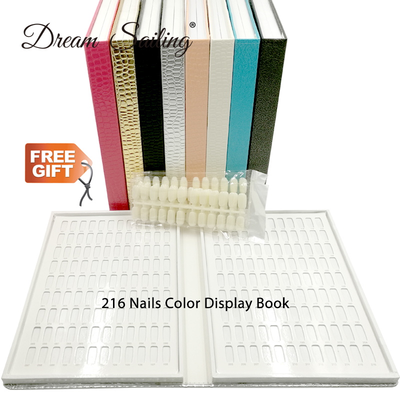 False Nail Color Book Color Display Nail Art Gel Polish Color Card Nail Color Chart Palette Varnish Practice Board Manicure Tool