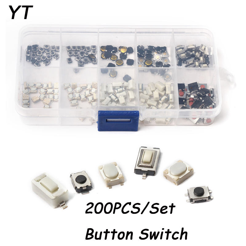 3*4/3*6/4*4/6*6 10Types Car Remote Control Tablet Micro Switch Key Touch Tactile Push Button 200pcs/set Tact Switch Buttons 1000pcs 6 6 4 3mm 6x6x4 3mm 2pin tact switch tactile switch square knobs touch
