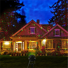 Лазерный ландшафтное освещение Звезды Проектор Открытый Газон Лампа IP65 Водонепроницаемый Украшение Дома На Рождество свет Сада