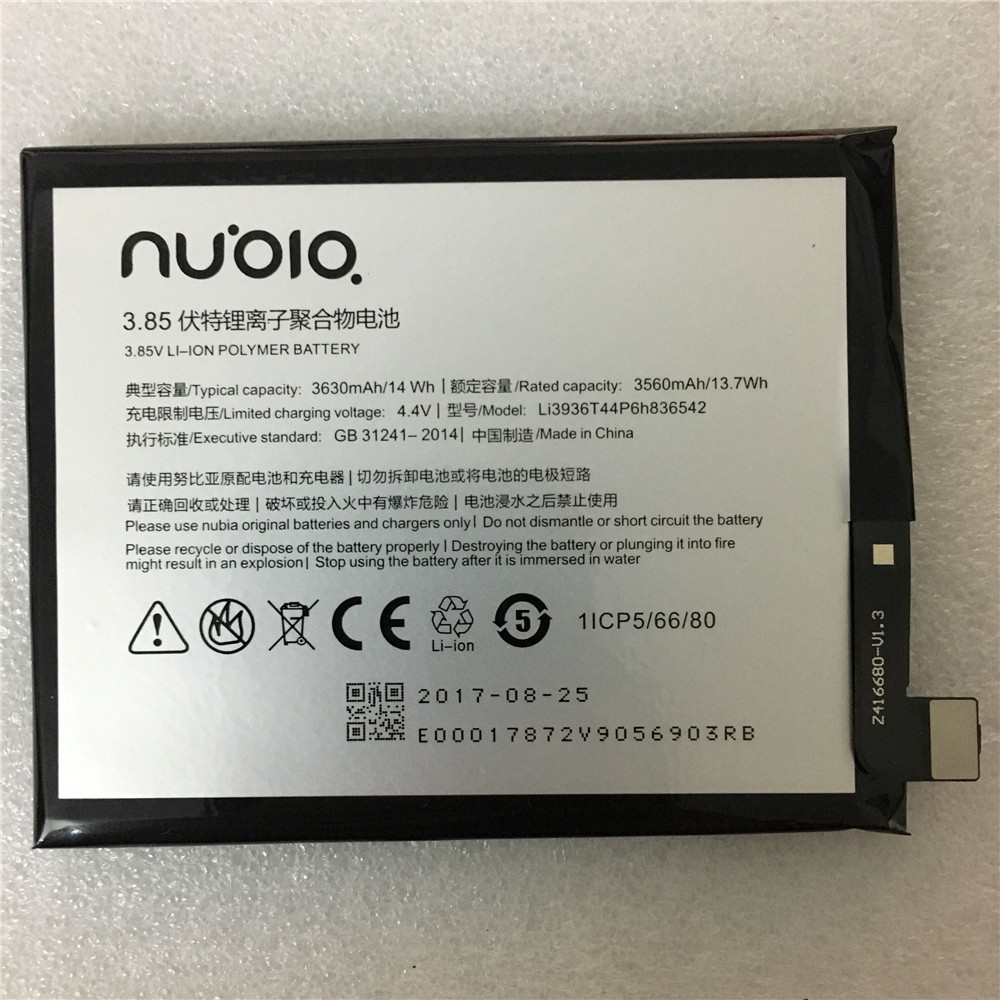 Original Li3936T44P6h836542 3630mAh Battery For ZTE/Nubia Nubia M2, Nubia M2 Dual SIM, Nubia M2 Dual SIM TD-LTE, NX551J Battery(China)