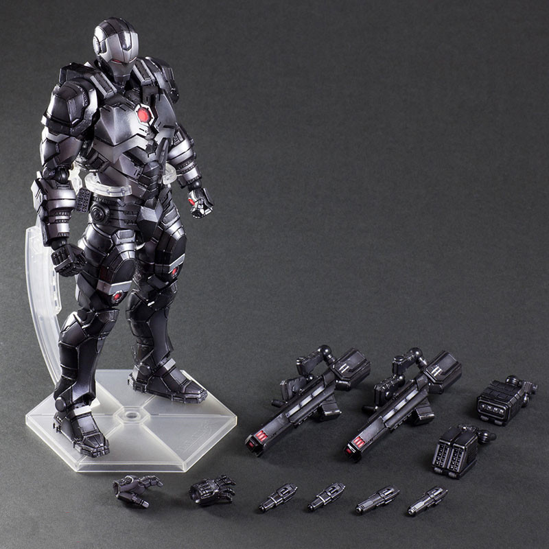 Ironman War Machine Play Arts Kai Super Hero Avengers Black Iron man Thanos Action Figure Model Toys PA Kai play arts kai marvel avengers infinity war super hero iron man war machine pvc action figure collectible model toy