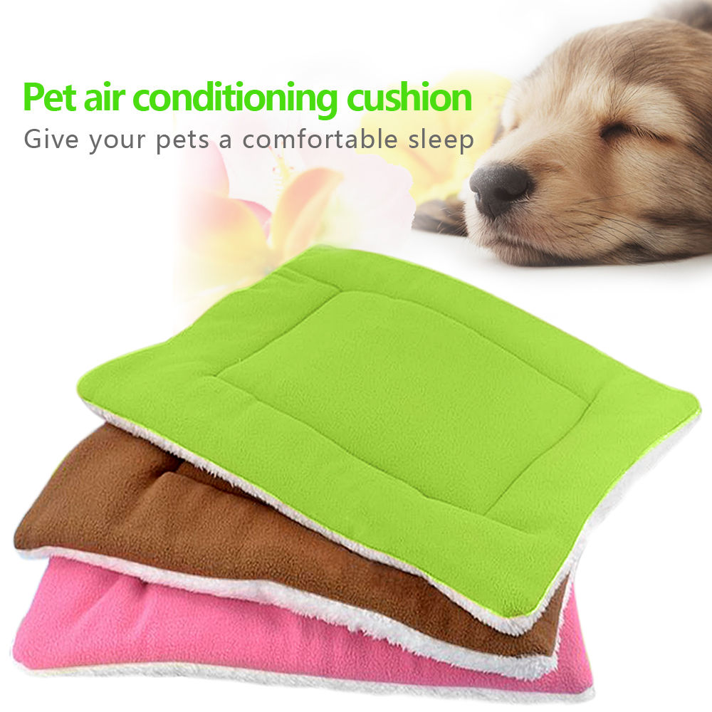 Warm Soft Fleece Dog Beds Mat For Large Small Dogs Crate Cushion Pet Blanket Furry Bed Sofa For Dogs Cats Washable Comfort
