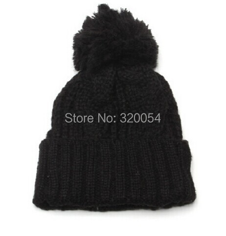 1pcs 2014 new winter warm knitted cap Men and women fashion twist flanging earmuffs hat Free shipping free shipping 1pcs 2013 new men and women fashion knitted cap holes do old style with velvet autumn winter warm hat wholesale
