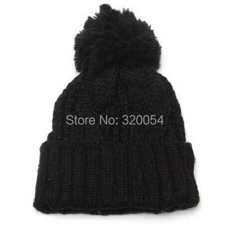 1pcs 2014 new winter warm knitted cap Men and women fashion twist flanging earmuffs hat Free shipping