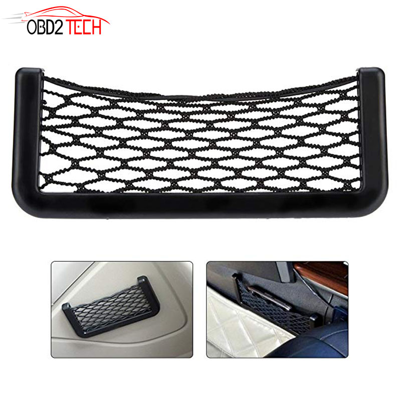 Pocket-Organizer Wallet Net-Holder Storage Car-Net-Bag Car Mesh Universal Black MORE