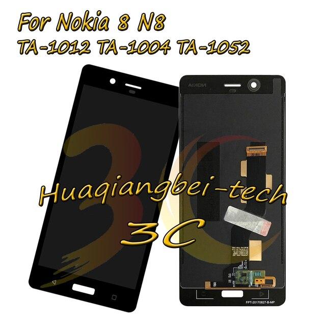 5.3 ''חדש לנוקיה 8 N8 TA-1012 TA-1004 TA-1052 מלא LCD + מסך מגע Digitizer עצרת עבור Nokia 8 100% נבדקו