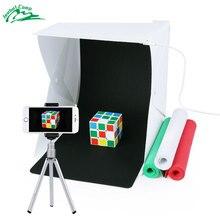 Иезавель мини фото Light Box Портативный фотостудия Zenic Studio Фото палатка комплект светодиодный свет и фон фото коробки Lichtbak бокс для фото