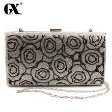 GX Neue Design Acryl Rosen Frauen Handtaschen Diamanten Kupplung Abendtaschen Messenger Umhängetaschen Für Hochzeit/Partei/Abendessen