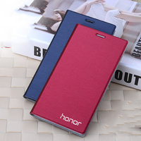 Luxury Leather Pouch Bags Card Holder Stand Flip Cover Case For Huawei Honor4C Honor 4C Mobile